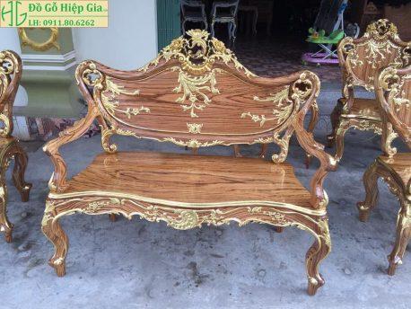 Bộ ghế louis dát vàng