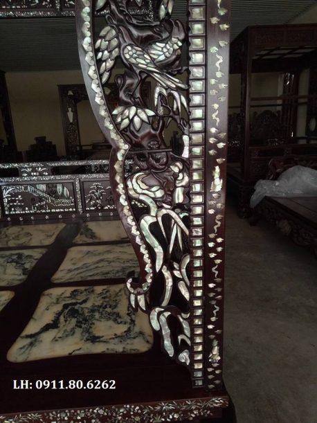 Giường long sàn khảm ốc