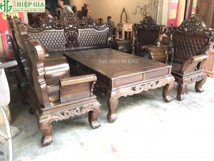 Sofa Hoàng Gia Gỗ Mun MS: 48