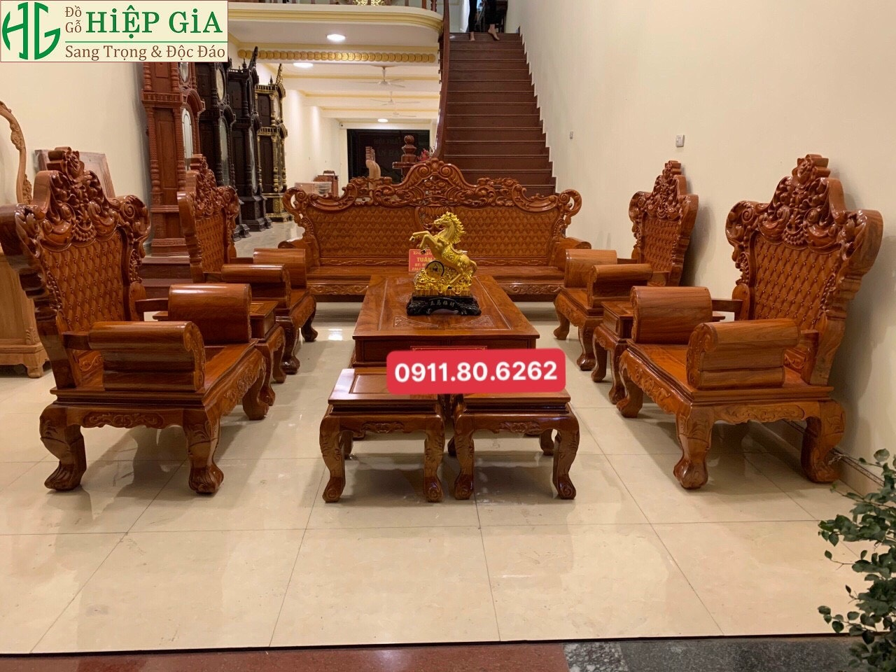 Bo Ghe Tan Co Dien 12 - Bộ Ghế Tân Cổ MS: 65