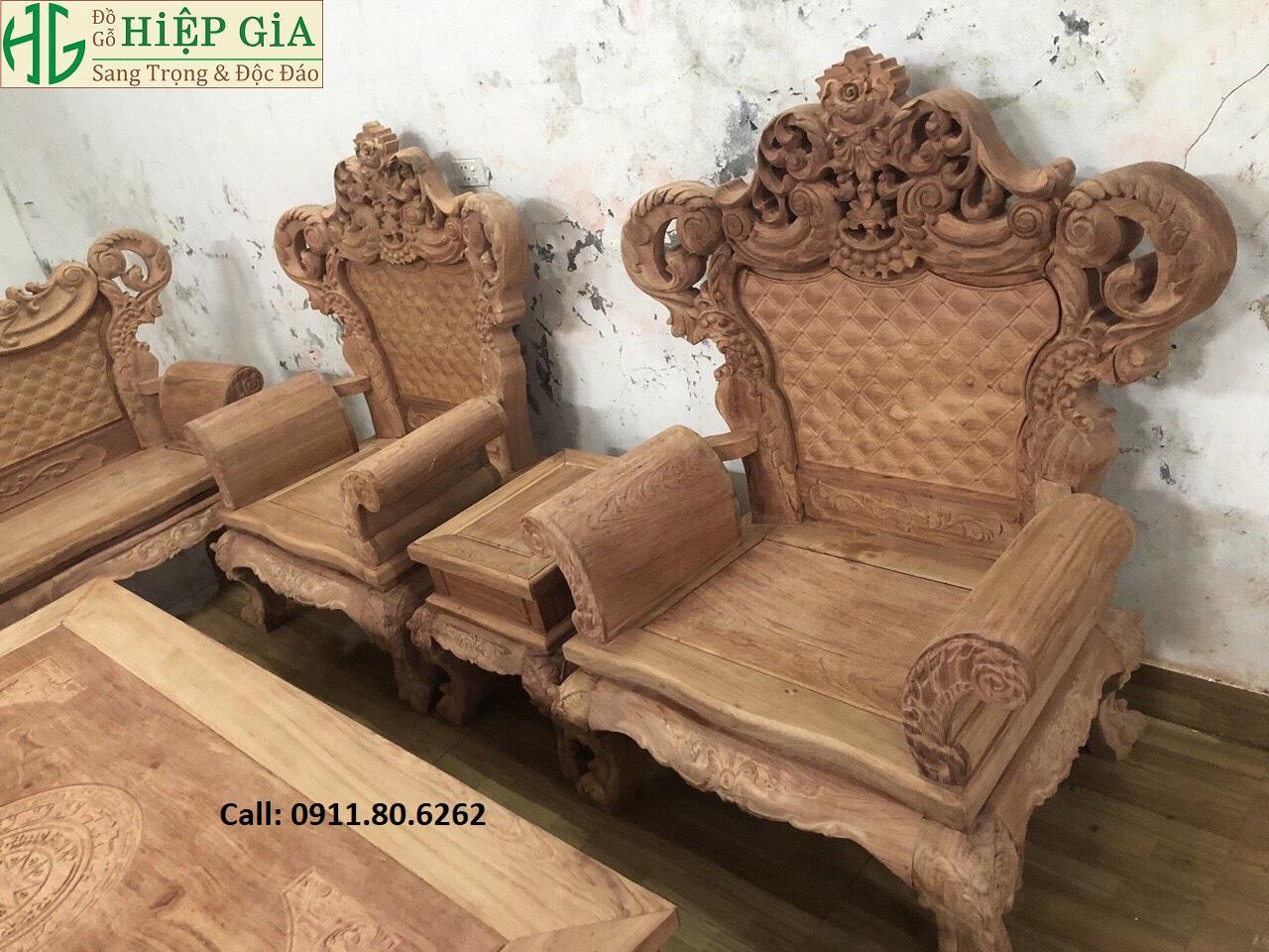 Bo Ghe Tan Co Dien 7 - Bộ Ghế Tân Cổ MS: 65