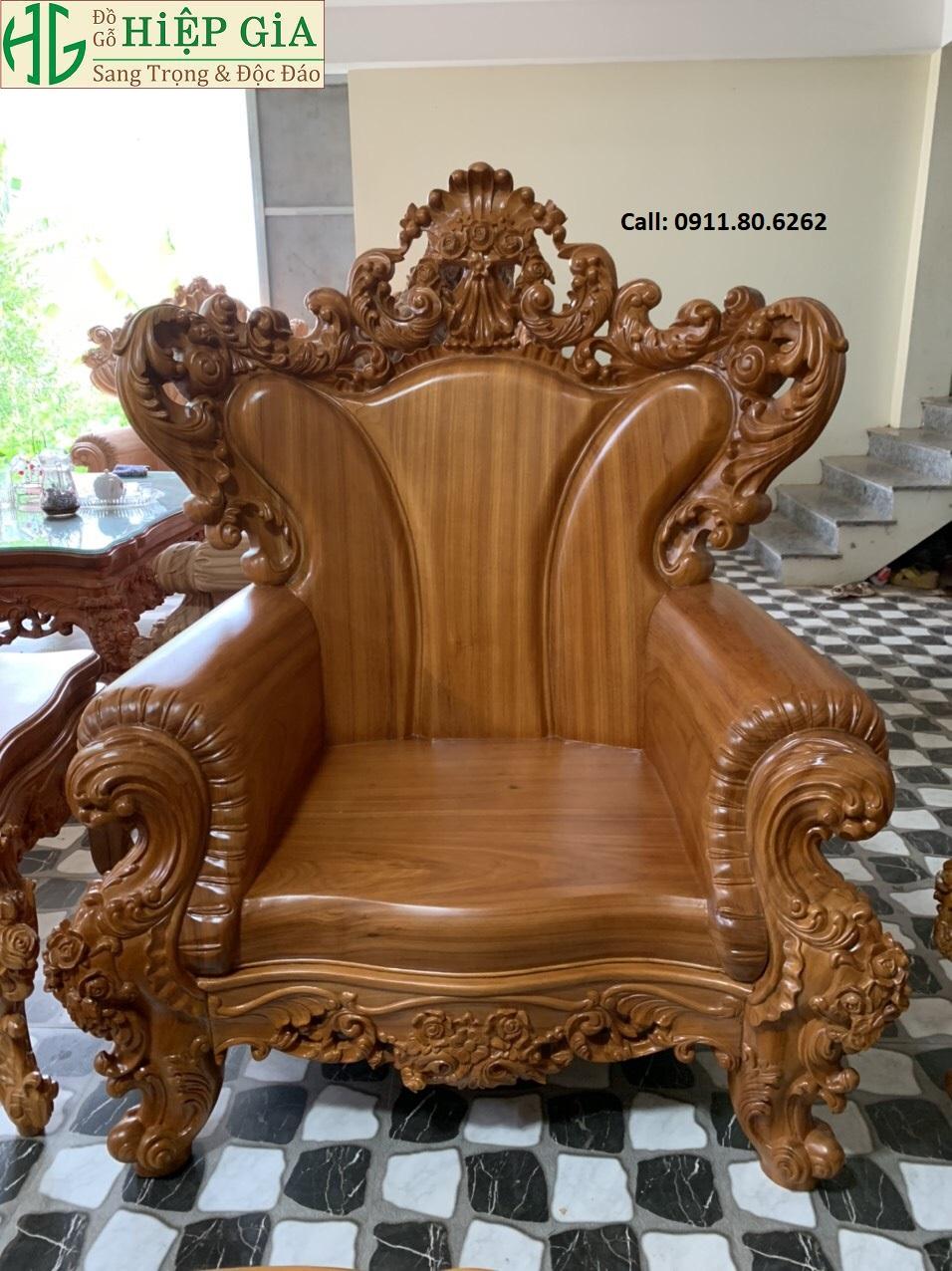 Sofa louis hoang gia 22 - Sofa Louis Hoàng Gia MS: 64