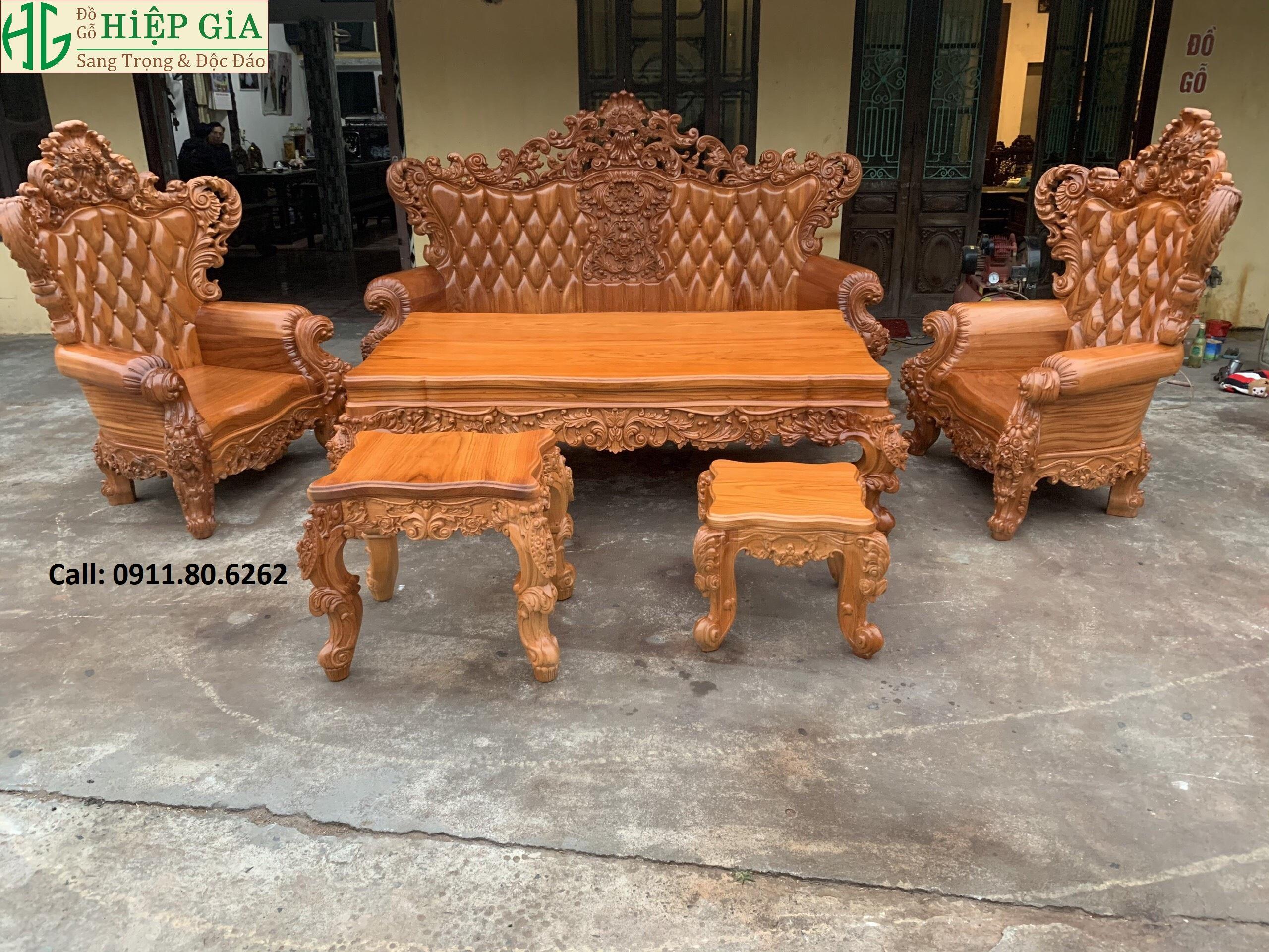 Sofa louis hoang gia 34 - Sofa Louis Hoàng Gia MS: 64