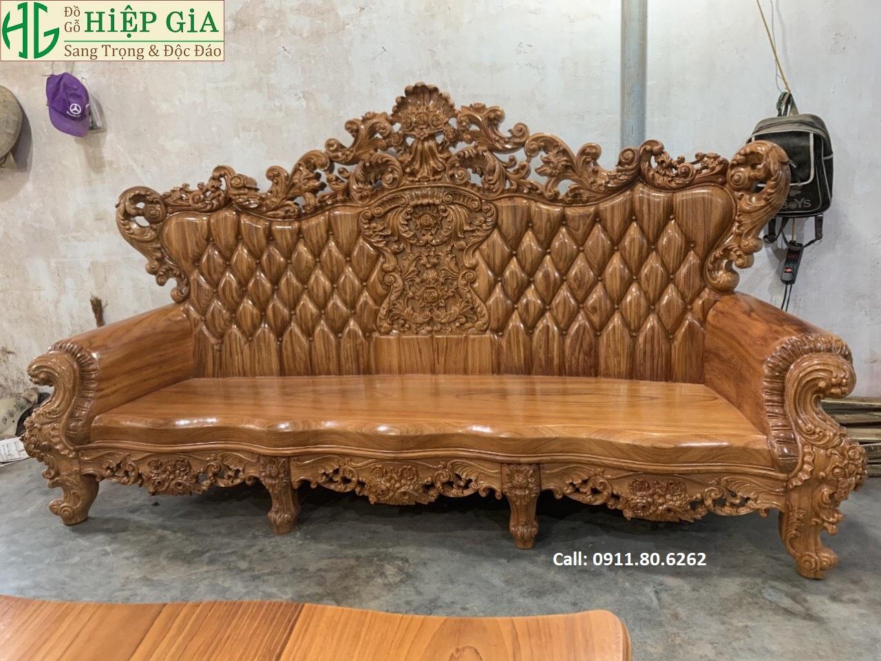 Sofa louis hoang gia 36 - Sofa Louis Hoàng Gia MS: 64