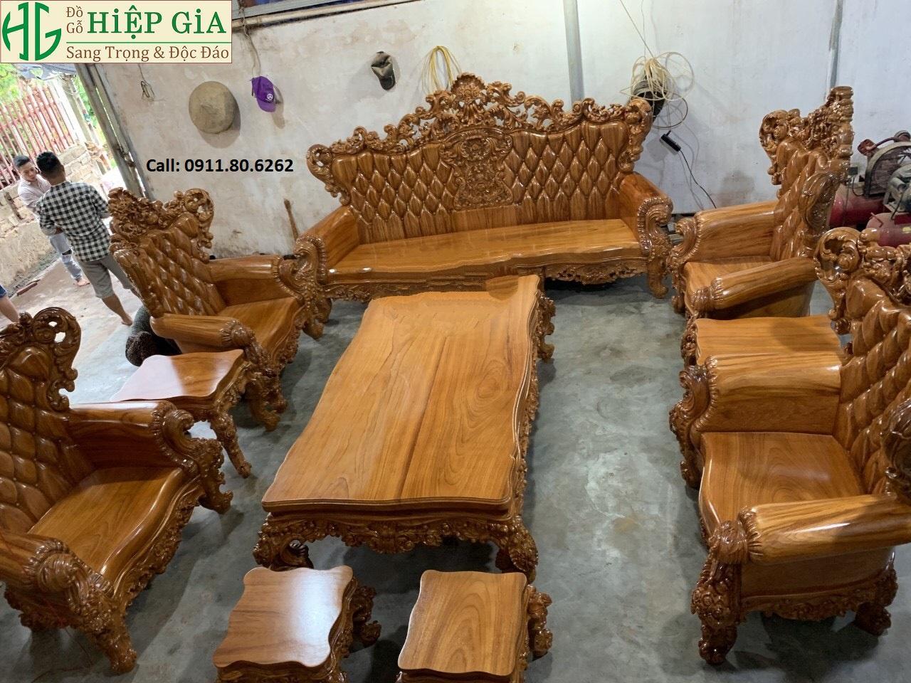 Sofa louis hoang gia 43 - Sofa Louis Hoàng Gia MS: 64