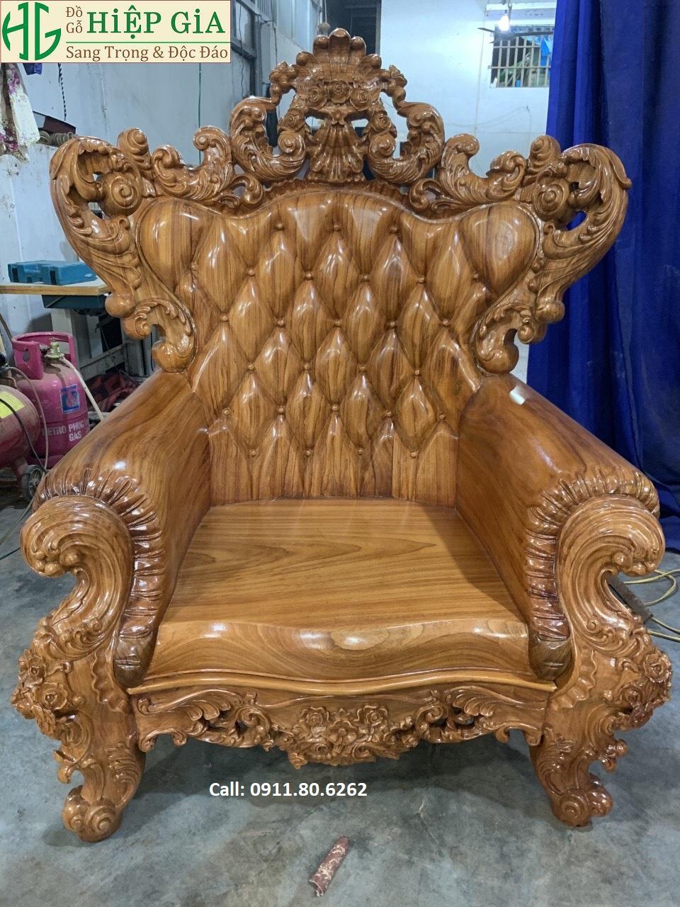 Sofa louis hoang gia 44 - Sofa Louis Hoàng Gia MS: 64