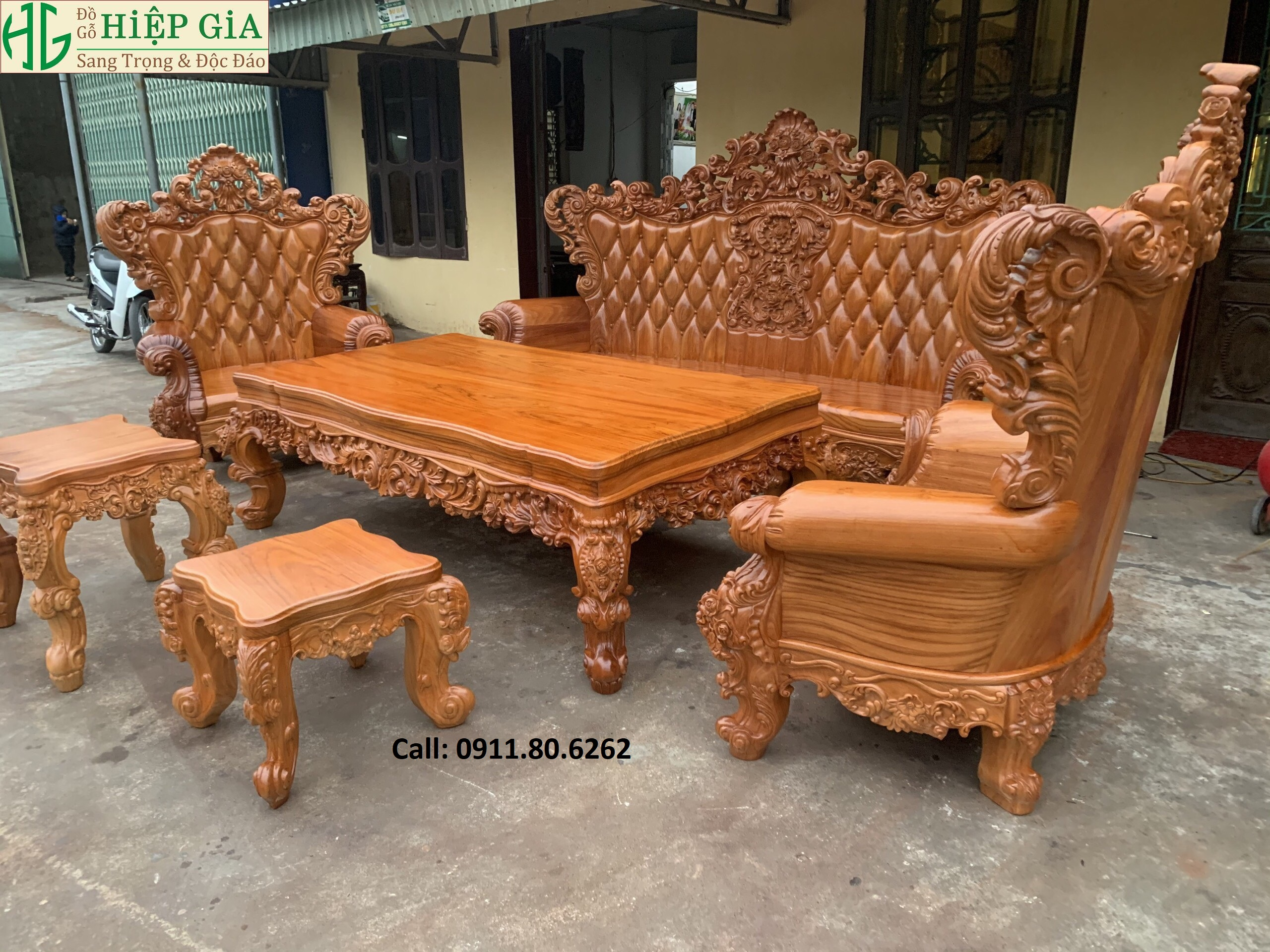 Sofa louis hoang gia 50 - Sofa Louis Hoàng Gia MS: 64