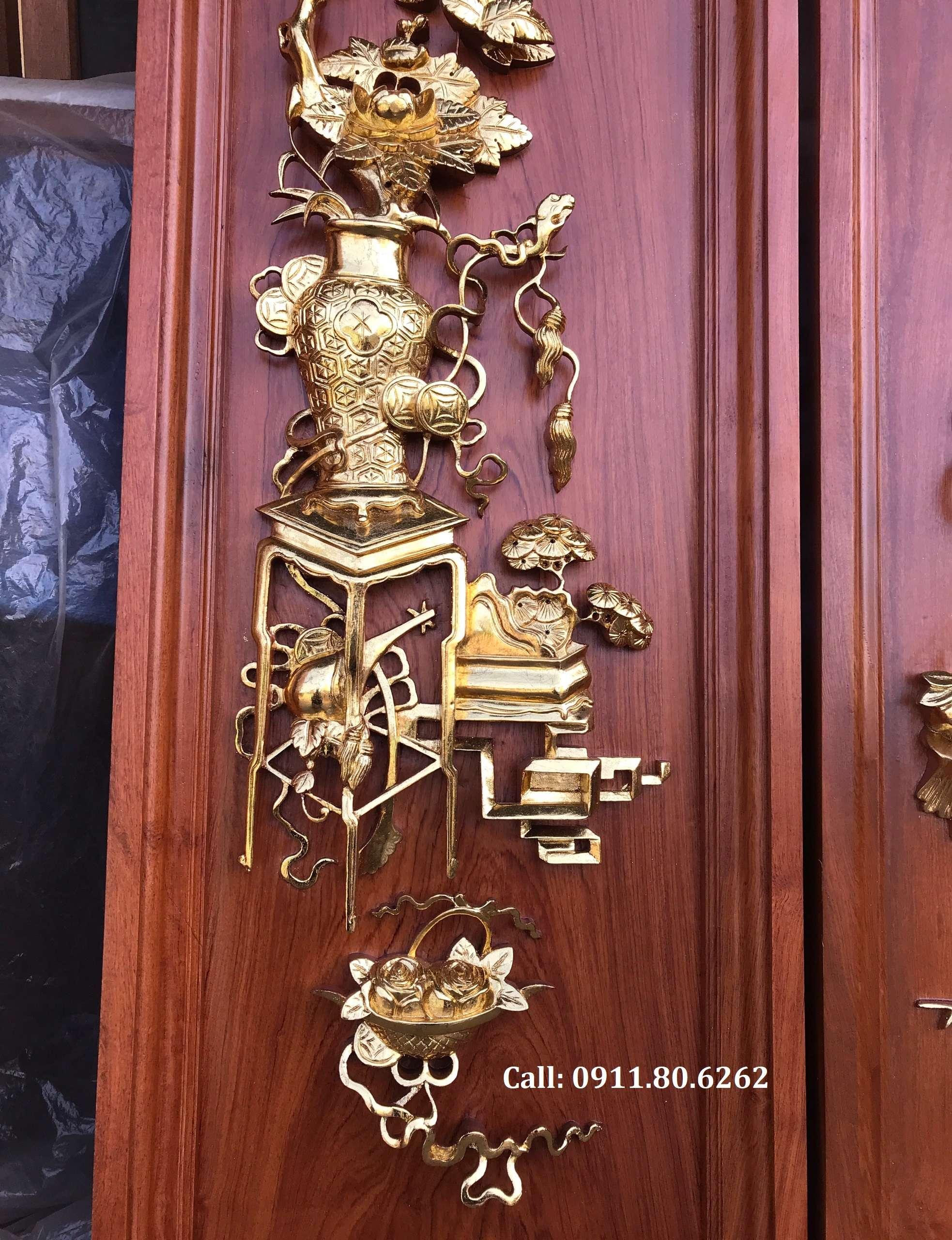 Tranh Tu Binh Son Son Thep Vang 12 - Tranh Tứ Bình Sơn Son Thiếp Vàng MS: 15
