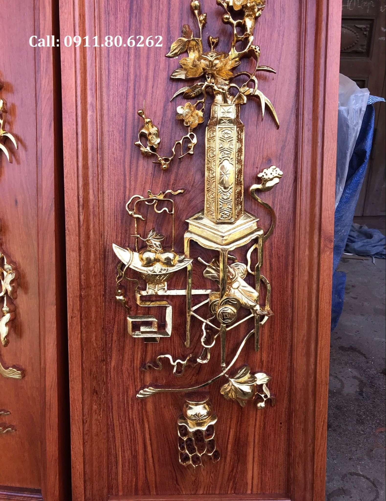 Tranh Tu Binh Son Son Thep Vang 13 - Tranh Tứ Bình Sơn Son Thiếp Vàng MS: 15