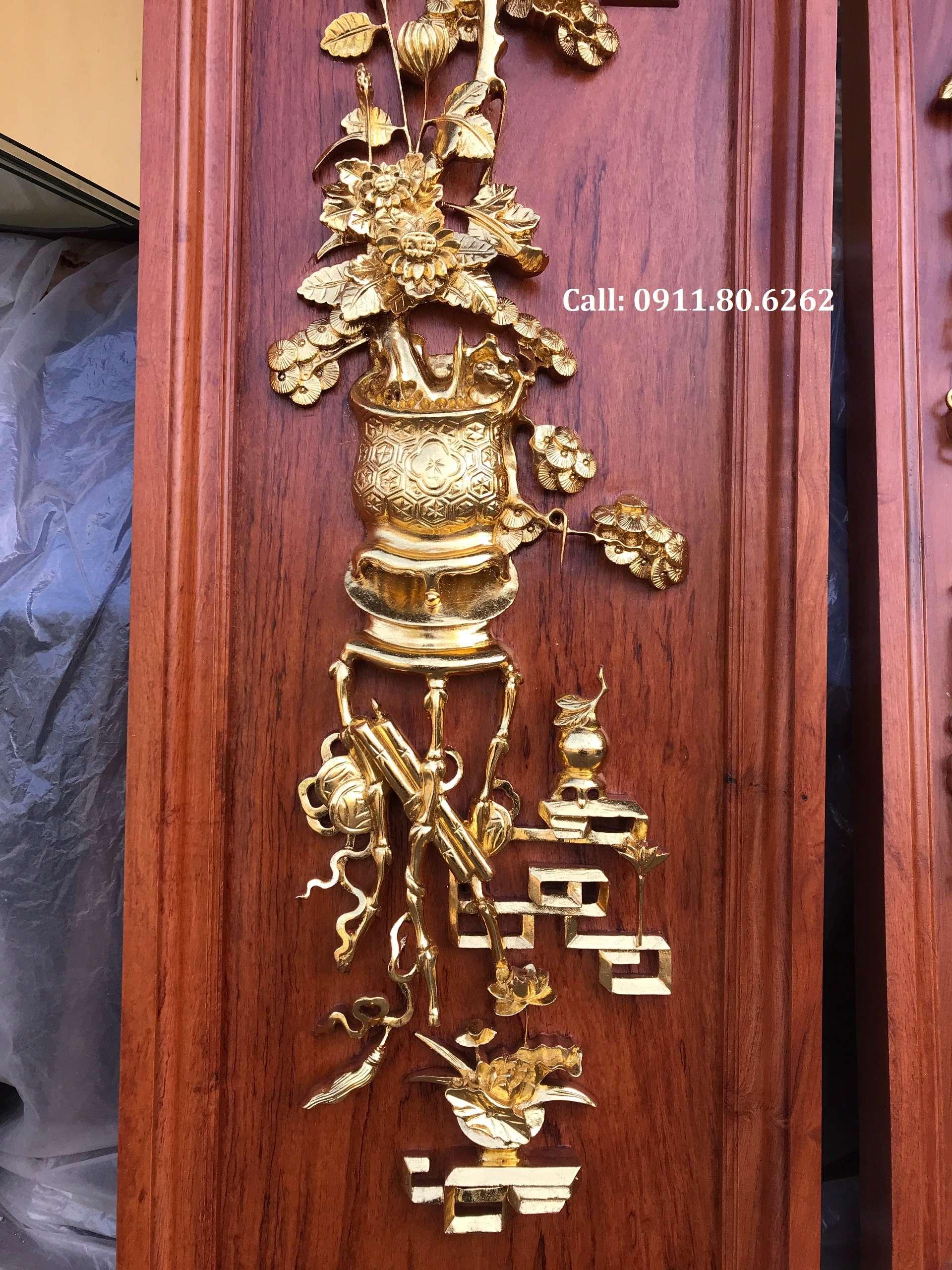 Tranh Tu Binh Son Son Thep Vang 2 - Tranh Tứ Bình Sơn Son Thiếp Vàng MS: 15