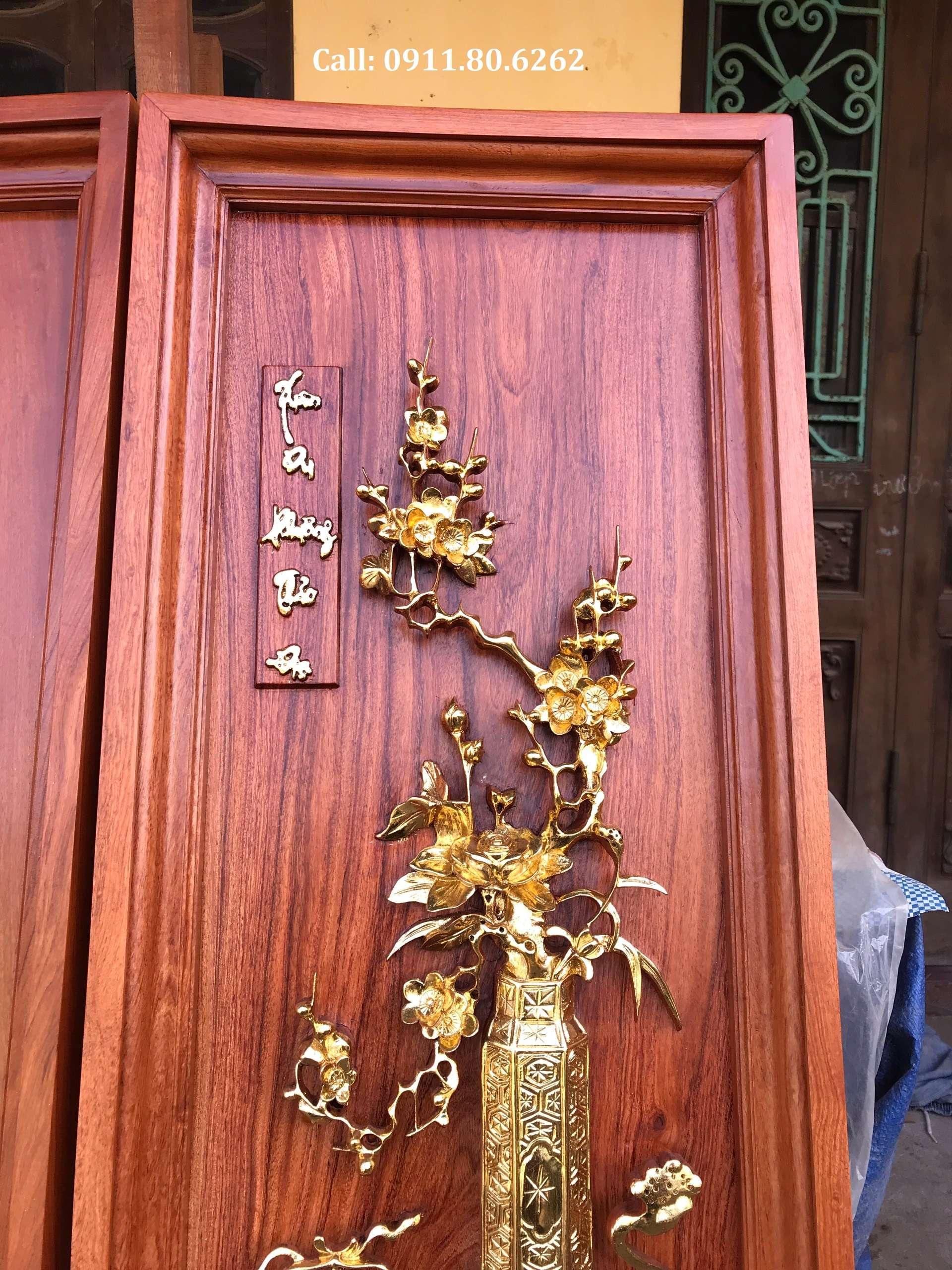 Tranh Tu Binh Son Son Thep Vang 6 - Tranh Tứ Bình Sơn Son Thiếp Vàng MS: 15