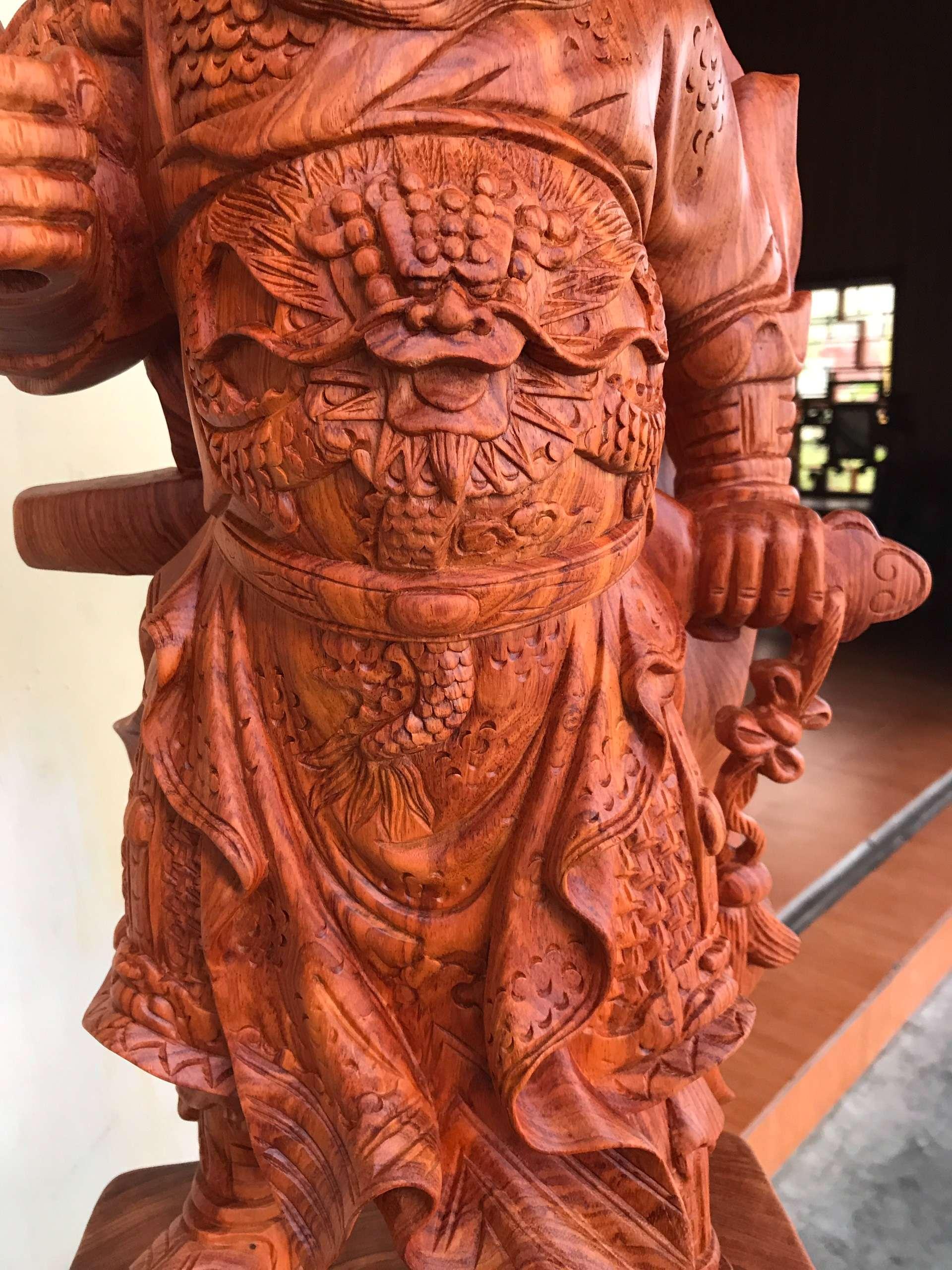 Tuong Go Quan Cong 2 - Tượng Gỗ Quan Công MS: 02
