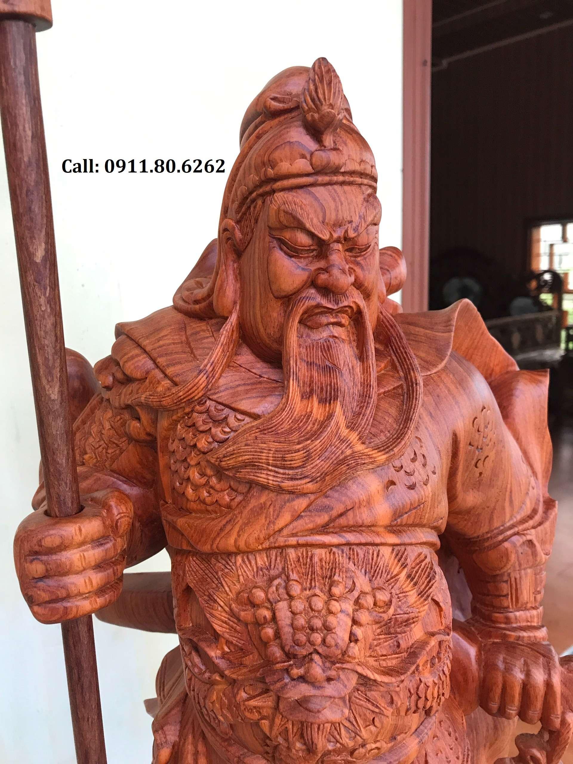 Tuong Go Quan Cong - Tượng Gỗ Quan Công MS: 02