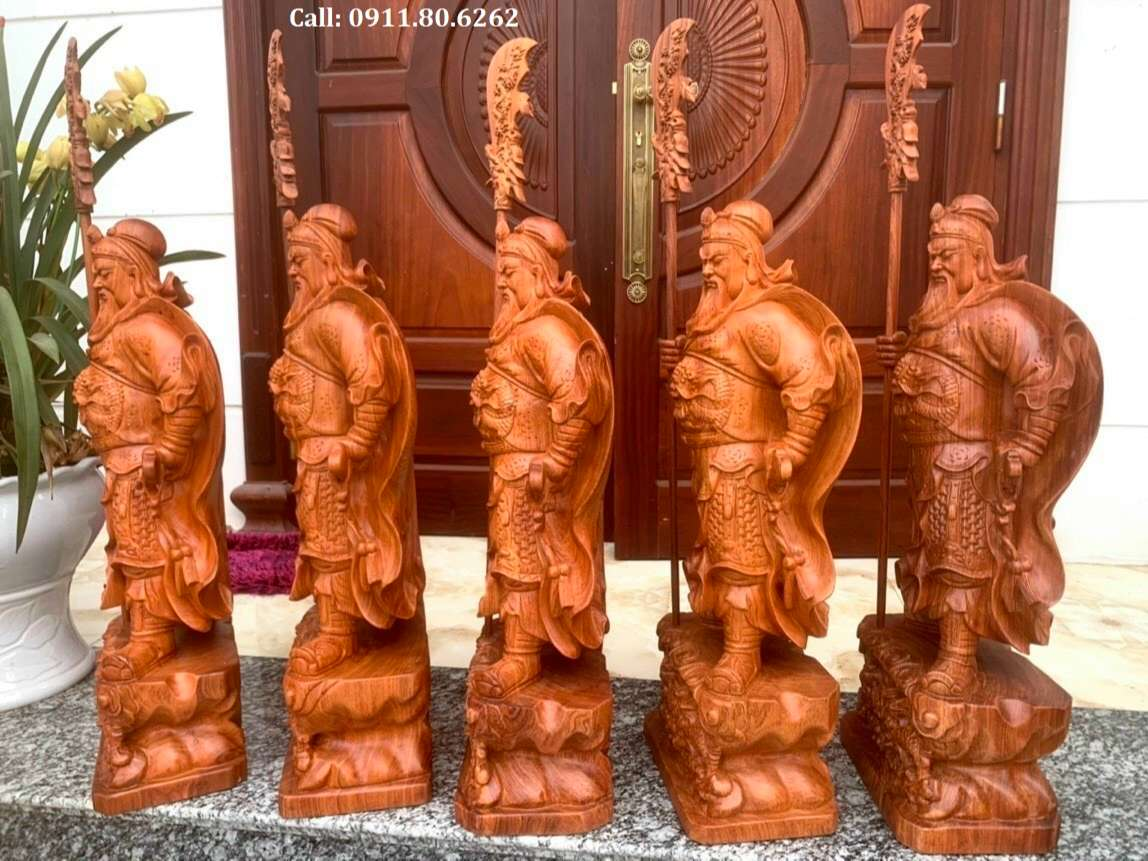 Tuong Go Quan Van Truong 1 - Tượng Gỗ Quan Công MS: 02
