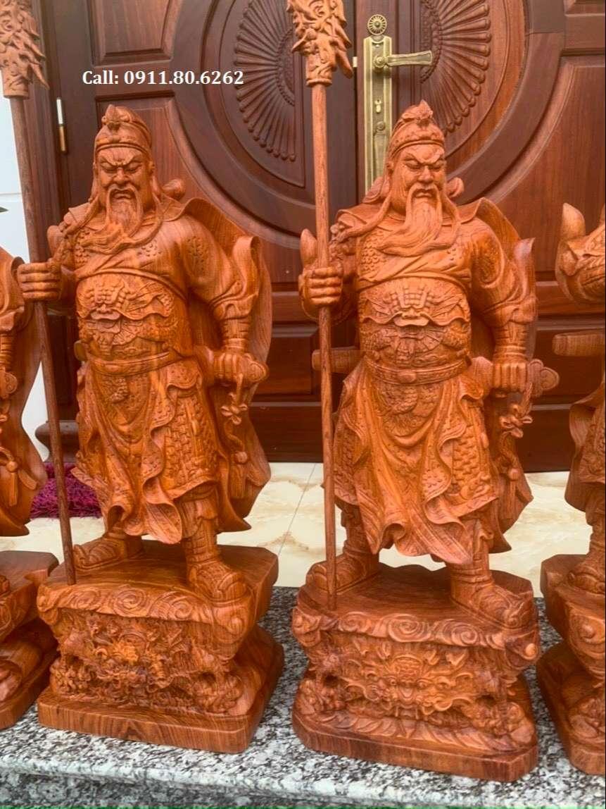Tuong Go Quan Van Truong 3 - Tượng Gỗ Quan Công MS: 02